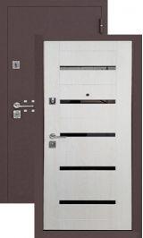 SalvaDoor 3 шелк бордо лиственница беленая металлическая входная дверь