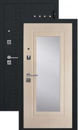 SalvaDoor 4 черный муар белое дерево металлическая входная дверь