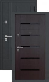 SalvaDoor 5 черный шелк венге металлическая входная дверь
