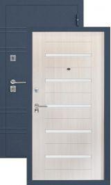SalvaDoor 6 синий шелк лиственница белая металлическая входная дверь
