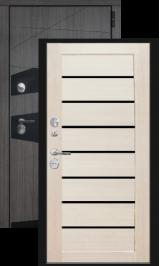 Локко с терморазрывом лиственница беленая/черный шелк металлическая входная дверь