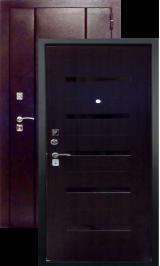 Нео-3 венге металлическая входная дверь