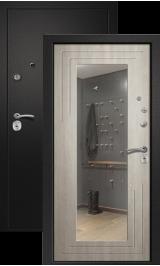 Аризона Черный шелк/Дуб крем с зеркалом входная дверь