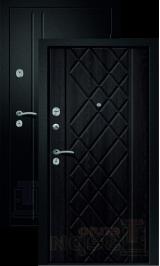 Медея-310 Сатин черный/Аруба венге входная дверь