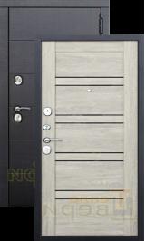 Дрезден Черный муар/Дуб шале-корица черное стекло металлическая входная дверь