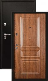Филадельфия 2 Черный муар/грецкий орех входная дверь
