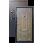 Тепло-дверь Н-22, Черный шелк Ель карпатская металлическая входная дверь