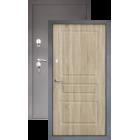 Тепло-дверь H-24, Шелк-бордо/Ель карпатская металлическая входная дверь