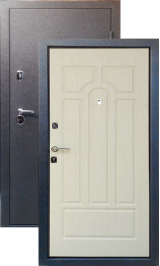 Тепло-двери, Черный шелк рисунок 05 цвет Дуб беленый металлическая входная дверь