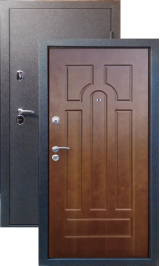 Тепло-дверь МАКСИМУМ, Черный шелк рисунок 05 цвет Орех металлическая входная дверь