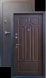 Тепло-двери, Черный шелк рисунок 05 цвет Венге ребро металлическая входная дверь