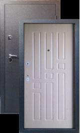 Тепло-дверь МАКСИМУМ, Черный шелк рисунок 06 цвет Дуб беленый с синими прожилками металлическая входная дверь
