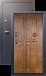 Тепло-дверь МАКСИМУМ, Черный шелк рисунок 06 цвет Орех металлическая входная дверь