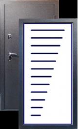 Тепло-двери, Черный шелк рисунок 14 цвет 00 металлическая входная дверь