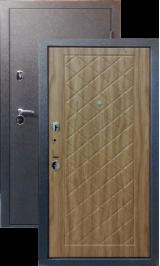 Тепло-двери, Черный шелк рисунок 28 цвет Ель карпатская металлическая входная дверь