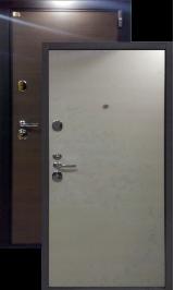 Швеция беленый дуб металлическая входная дверь 860 лев, пр. (Витрина)