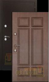 Теплодверь Ямал антик медь/венге терморазрыв на полотне и коробе металлическая входная дверь