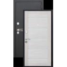 Сицилия Черный муар/Лиственница беж. металлическая входная дверь