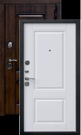 Тепло-дверь Паула (Вена Vinorit) Грецкий орех/Белый матовый металлическая входная дверь