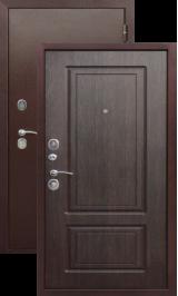 Тепло-дверь Куба (Толстяк) Антик медь/Венге металлическая входная дверь