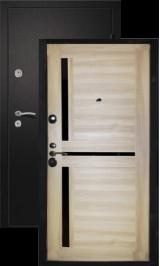 Теплодверь Палермо сатин черный/барон светлый металлическая входная дверь