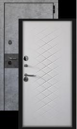 Дакар софт белый с терморазрывом металлическая входная дверь
