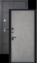 Каре бетон графит/бетон снежный с терморазрывом металлическая входная дверь