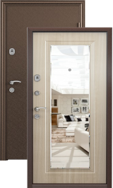 Стел 05 (антик медь-бел дуб) металлическая входная дверь 860 пр (Распродажа)