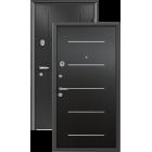 Super Omega 7 чёрный шёлк венге молдинг металлическая входная дверь