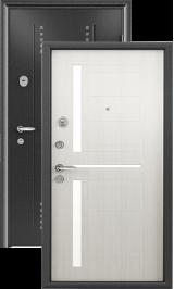 Super Omega 8 чёрный шёлк белый перламутр металлическая входная дверь
