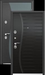 SIGMA COLOR Темно-серый муар Венге поперечное металлическая входная дверь