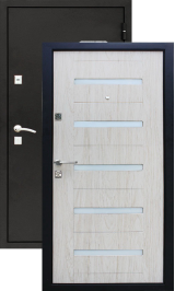 УД-145 беленый дуб металлическая входная дверь