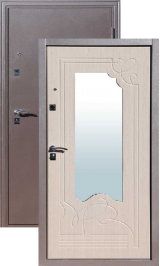 Йошкар Ампир медь/белый ясень металлическая входная дверь