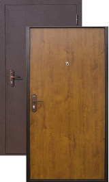 Стройгост-5 металл-МДФ  металлическая входная дверь