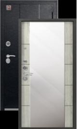 Центурион C-104 Черный муар/Полярный дуб с зеркалом металлическая водная дверь