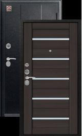 Центурион C-105 царга x7 Черный муар/Лиственница темная металлическая водная дверь