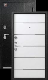Центурион с-108 Серый муар/Софт белый металлическая входная дверь