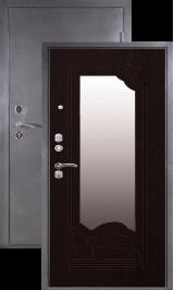 Зевс Н-0, Серебро-венге зеркало металлическая входная дверь