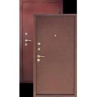 Зевс Супер эконом 2 замка, Медь-Медь металлическая входная дверь