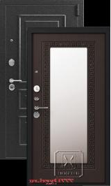 ЛегиоЛегион L-1, серебро-венге зеркало металлическая входная дверь