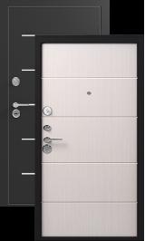 Легион L-2, черный шелк-лен светлый металлическая входная дверь
