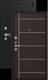 Легион L3-1, черный блеск-молдинг венге металлическая входная дверь