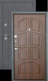 Легион L-5, серый блеск-орех металлическая входная дверь
