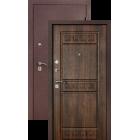 Легион L-6, шелк бордо-тиковое дерево, металлическая входная дверь