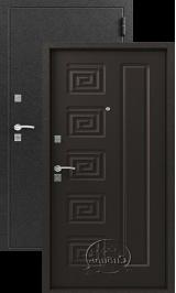 Зевс S-2,  серебро венге металлическая входная дверь