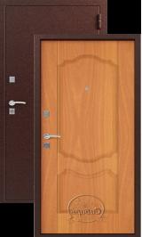 Сибирь S-1/1, Медь-Миланский орех металлическая входная дверь
