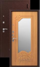 СИБИРЬ S-4, ЗЕРКАЛО,  МИЛАНСКИЙ ОРЕХ металлическая входная дверь