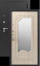 СИБИРЬ S-4, ЗЕРКАЛО, СЕРЕБРО - СЕДОЙ ДУБ металлическая входная дверь