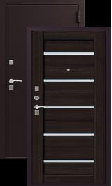 ЗЕВС Z-3, ШЕЛК БОРДО-ВЕНГЕ металлическая входная дверь