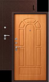 ЗЕВС Z-4, МЕДЬ- МИЛАНСКИЙ ОРЕХ металлическая входная дверь